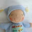 Mini alvó bébi- kék, Baba-mama-gyerek, Játék, Baba, babaház, Baba játék, Kedves, pihe-puha alvó babóca (a kedvencem : ) A 28 cm magas alvó babám kicsinyített mása. Ő mindöss..., Meska