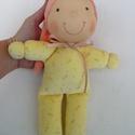Minimanó- sárga, Baba-mama-gyerek, Játék, Baba, babaház, Baba játék, Vidám, puha plüssből készült saját tervezésű Waldorf manó kicsiknek. Kb. 22 cm magas, sapival együtt..., Meska