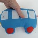 Buszos alvóka, Kb. 20 X 14 cm-s busz. Pamutkartonból készült ,...