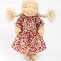 Copfos baba, Baba-mama-gyerek, Játék, Baba, babaház, Természetes alapanyagokból készült kb. 36 cm magas Waldorf jellegű baba. Rugalmas pamut a teste, gya..., Meska