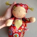Mini alvó bébi- piros, zöld, Kedves, pihe-puha alvó babóca (a kedvencem : ) A...