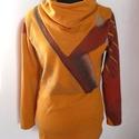Sárga pulcsi, Ruha, divat, cipő, Női ruha, Felsőrész, póló, Nagyon finom, puha futterből készült kámzsa nyakú pulóver. Az utolsó képen a saját pulcsim látható. ..., Meska