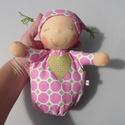 Mini alvó bébi- rózsaszín mintás, Baba-mama-gyerek, Játék, Baba, babaház, Baba játék, Kedves, pihe-puha alvó babóca (a kedvencem : ) A 28 cm magas alvó babám kicsinyített mása. Ő mindöss..., Meska