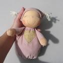 Mini alvó bébi- rózsaszín, Baba-mama-gyerek, Játék, Baba, babaház, Baba játék, Kedves, pihe-puha alvó babóca (a kedvencem : ) A 28 cm magas alvó babám kicsinyített mása. Ő mindöss..., Meska