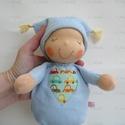 Mini alvó bébi- kék, Kedves, pihe-puha alvó babóca (a kedvencem : ) A...