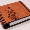 Notesz, jegyzetfüzet, gravírozott díszítéssel., Mindenmás, Famegmunkálás, Festett tárgyak, Lézerrel vágott fa notesz, jegyzetfüzet, gravírozott mintával.  Ingyen posta!  Nagyon praktikus,és ..., Meska