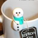 Hóember - Filter tartó, Ez a kedves hóember a hideg napokban segít abban...
