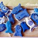 Kék tenger nyaklánc , Ékszer, Nyaklánc, Kézzel készült egyedi tervezésű halacskás  nyaklánc. Minden darab egyedi, nincs két teljesen ugyanol..., Meska