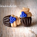 Muffin fülbevaló, Ékszer, Fülbevaló, Kalóriaszegény kiegészítő édesszájúaknak.  Süthető gyurmából aprólékos munkával, sablon nélkül készü..., Meska