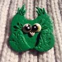B.B.  Bross-Bagoly, Ékszer, Dekoráció, Bross, kitűző, Süthető gyurmaból, aprólékos munkával készült kitűzőt.   Nagyszerű lehet ajándékba karácsonyra, de a..., Meska