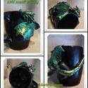 """""""Zöld szemű szörny"""" sárkányos bögre, Polymer clayből készült nem túl kedves, de nag..."""