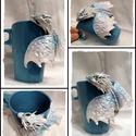 """""""North Pole"""" sárkányos bögre, Polymer clayből készült nagyon egyedi és jófe..."""