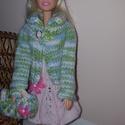 Kézzel kötött barbie ruha, Játék, Baba, babaház, Kötés, Hímzés, Barbie őszi együttes.  Kézzel kötött ruha, blézer, sapka és táska., Meska