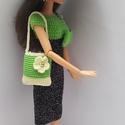 Barbie babaruha, Horgolt Barbie koktélruha. Csillogó fekete és z...