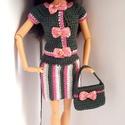 Barbie babaruha, Horgolt 2 részes Barbie kiskosztüm, hozzáillő ...