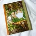 napló, jegyzetfüzet saját fotóval, Baba-mama-gyerek, Naptár, képeslap, album, Jegyzetfüzet, napló, A napló fedőlapjait domborított fémmel borítom. Ebbe aplikálok egy fotót, mely kedvenc állatról, tár..., Meska