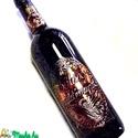 boros üveg címke domborított fémből, Férfiaknak, Esküvő, Nászajándék, Ha jelképes ajándékot szeretnénk adni köszönetül, köszöntésül, vagy egy tömör gondolato..., Meska