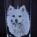 Fénykép alapján gravírozott pohár (1 portréval), Konyhafelszerelés, Bögre, csésze, Üvegművészet, A pohár 3 dl-es űrtartalmú készen vásárolt termék, amire a küldött fénykép alapján kézzel gravírozo..., Meska