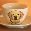 Fénykép alapján festett porcelán csésze (1 portréval), Konyhafelszerelés, Bögre, csésze, Festett tárgyak, Ezt a bögrét a csészét kedvenced portréjával készítem el :) A csésze 2 dl-es, festéséhez valódi por..., Meska