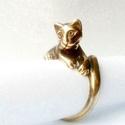 Macska gyűrű, Ékszer, óra, Gyűrű,                                  Ha viseled, macskád szemmel tart Téged!  °x°  Ezüstözve is re..., Meska