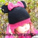 Minni Mouse / Minnie egér horgolt sapka, Minnie Mouse is helyet kapott az én álmoDóra me...