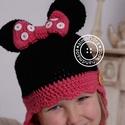 Minni Mouse / Minnie egér horgolt kislánysapka, Baba-mama-gyerek, Baba-mama kellék, Minnie Mouse is helyet kapott az én álmoDóra mesevilágomban, egy rajongó kislányt leptek meg vele ka..., Meska