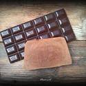 Csoki-vanília szappan kakaóvajjal, Otthon, lakberendezés, Szépségápolás, Szappan, tisztálkodószer, Natúrszappan, Összetétele: olívaolaj, kókusz vaj,  kakaóvaj, lúg, víz, kakaó, vanília kivonat  Normál és száraz bő..., Meska