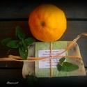 Menta-citrom szappan szőlőmag olajjal, Szépségápolás, Szappan, tisztálkodószer, Natúrszappan, Összetétel: olívaolaj, kókuszolaj, napraforgó olaj,szőlőmag olaj, citromfű-menta tea, lúg, citrom-me..., Meska