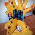 Fa mókuslak, Játék, Baba, babaház, Igazi fa formájú mókuslak  - alapja fa korong, átmérője: kb. 40 cm - magassága kb. 40 cm - mókusokka..., Meska