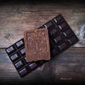 Csoki-vanília szappan kakaóvajjal, Otthon, lakberendezés, Szépségápolás, Szappan, tisztálkodószer, Natúrszappan, Szappankészítés, Életfa mintás szappan!  Összetétele: olívaolaj, kókusz vaj,  kakaóvaj, lúg, víz, kakaó, vanília kiv..., Meska