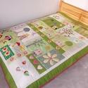 Baglyos ágytakaró gyerekszobába, nagyoknak, Baba-mama-gyerek, Gyerekszoba, Falvédő, takaró, Méretei: 223 x 165 cm.   Minden alkatrésze saját kezűleg kiszabva, rácikcakkolva nagyon sűrű ..., Meska