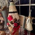 Textil fenyo karacsonyra, Dekoráció, Otthon, lakberendezés, Dísz, Asztaldísz, Diszitett cserepben saját készítésű fenyőfa kicsit másképpen, Meska