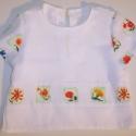 Virágos fehér blúzocska, Ruha, divat, cipő, Gyerekruha, Kisgyerek (1-4 év), Könnyű, szellős, nyári blúzocska, vidám virágmintával, hétköznapra, és ünneplőnek is alkalmas. 92-e..., Meska