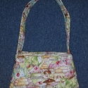Sütis táska kislányoknak, Süteményes-teázós mintájú anyagból készül...