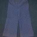 Kék kockás gyereknadrág, Vékony inganyagból készült kék-sárga-fehér ...