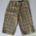 Sárga-barna kockás nadrág, Ruha, divat, cipő, Gyerekruha, Kisgyerek (1-4 év), Könnyű nadrág vékony, struktúrmintás inganyagból, hűvös nyári napokra, vagy őszre való. Fő színei a ..., Meska