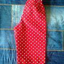 Tölcsért csinálok a zsebemből, Baba-mama-gyerek, Ruha, divat, cipő, Gyerekruha, Kisgyerek (1-4 év), Piros pöttyös, vékony vászon hosszúnadrág, kevertszálas anyagból készült, méretes, tölcsér alakú zse..., Meska