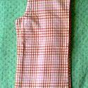 Rózsaszín kockás nadrág, Baba-mama-gyerek, Ruha, divat, cipő, Gyerekruha, Kisgyerek (1-4 év), Struktúrmintásan szőtt rózsaszín-sárga kockás gyermek hosszúnadrág, közepesen vékony anyagból. Derek..., Meska