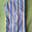 Uniszex manónadrág, Ruha, divat, cipő, Gyerekruha, Kisgyerek (1-4 év), Többszínű csíkos alapon nyomott mintás vékony vászon gyereknadrág, 98-as méretben. Színe és mintája ..., Meska