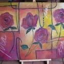 Rózsa fantázia - olajfestmény, Képzőművészet, Otthon, lakberendezés, Festmény, Falikép, 50 x 70 cm, feszített vászonra, olajfestékkel készült ., Meska