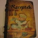Vidám szakács doboza, 24x18x9 cm könyvalakú fadobozt festettem át, ho...
