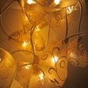 Hangulatvilágítás lámpafüzérrel, Dekoráció, Otthon, lakberendezés, Mindenmás, Lámpa, 20 darabos minőségi, EU által bevizsgált égősor minden égőjén egy dekoranyaggal, csillámto..., Meska