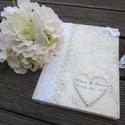 Esküvői vendégkönyv, A5 méretű, kemény kötésű, sima lapos füzet....