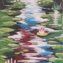 Vizililiomok - akril festmény, Dekoráció, Otthon, lakberendezés, Falikép, Festészet, Festett tárgyak, 30 x 20 cm feszített vászonra készült kép. A festményt ecsettel, művész akrillal festettem.  Személ..., Meska