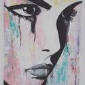 Női pillanat, Képzőművészet, Dekoráció, Festmény, Napi festmény, kép, 60 x 40 cm kemény, egy centi vastag reklám kartonra, művész akrillal, ecsettel és festő késse..., Meska