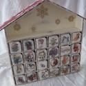 Adventi naptár, Fából készült, asztalos által gyártott házi...