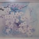 Virágzó ág, 50 x 60 cm akrilfestményem farostra, keretezve. A...