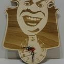Lézervágott és gravírozott Shrek óra, Baba-mama-gyerek, Ékszer, óra, Dekoráció, Nyár rétegelt lemezből készült lézervágással és lézergravírozással. Mérete: 24 cm x18,5..., Meska