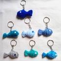 7 darab kis hal kulcstartó, Megrendelésre készült halas kulcstartó figurá...