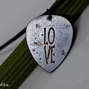LOVE -feliratos- szerelem -Vörösréz gitárpengető nyaklánc- fiúknak is, Ékszer, Férfiaknak, Nyaklánc, LOVE- szerelem  AZ ÁR PONT ERRE A LOVE FELIRATOS DARABRA VONATKOZIK! EGYEDI RENDELÉST CSAK JANUÁRBAN..., Meska